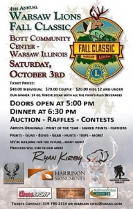 Warsaw Lions Club Fall Classic Flier 2015